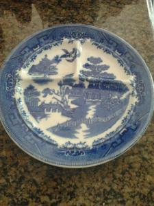 """Actual plate from the famed """"Blue Plate Special"""" served up by my Granny Kate the Wildcat Whipper"""