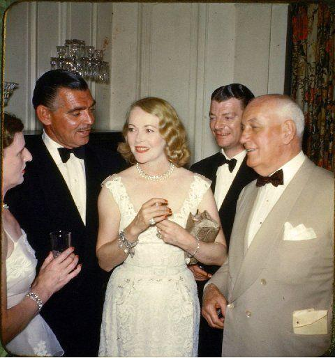 Clark Gable with his 3rd wife Lady Sylvia Ashley enjoying an evening at Golden Hill