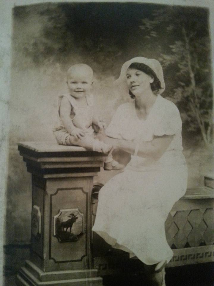 Gramcracker with my Dad c1935.